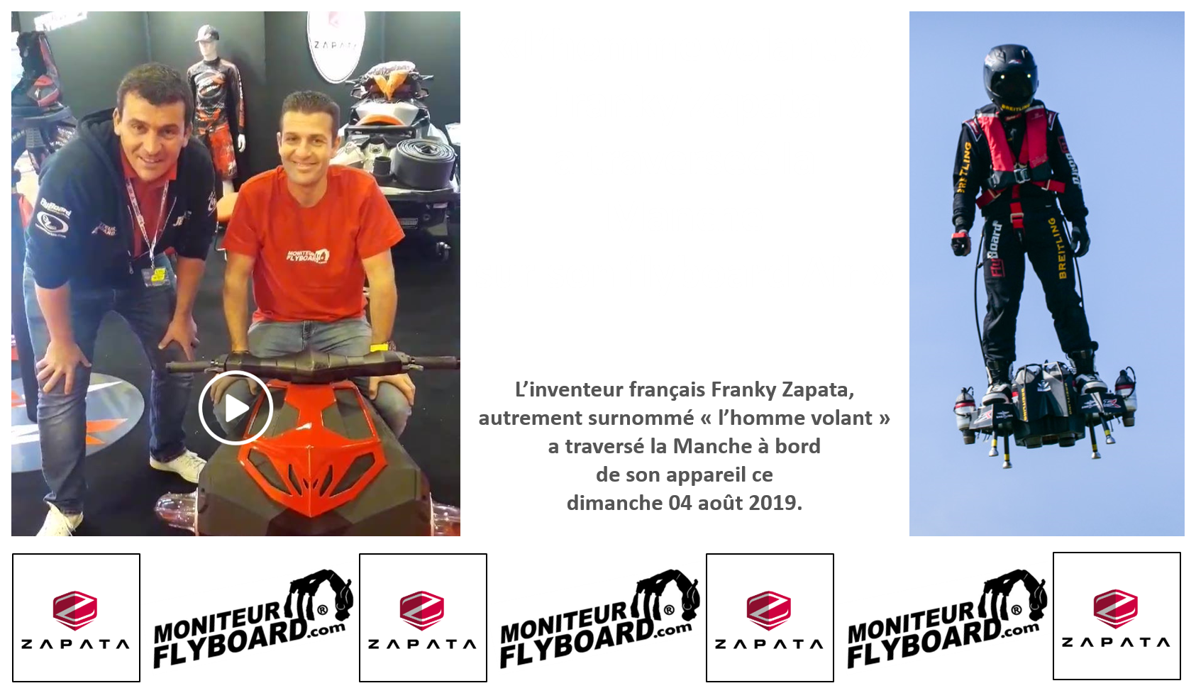 zapata traversee manche flyboard air
